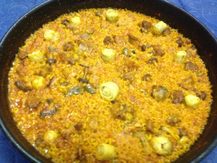 Receta arroz con costillas setas y alcachofas catering - Arroz caldoso con costillas y alcachofas ...