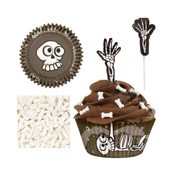 cupcake esqueleto  catering la despensa
