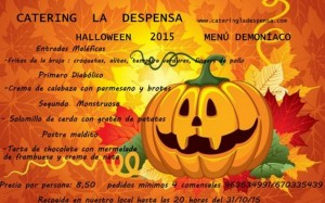 Menú Halloween 2015 de Catering La Despensa