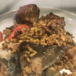 arroz-con-rodaballo - Catering La Despensa