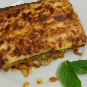 lasaña-con-hongos-variados - Catering La Despensa